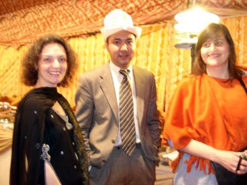 Valerie Khan Yusufzai, ASF-Pak Chairperson with a representative of Kirgistan embassy and Pilar Roblez from UNHRC